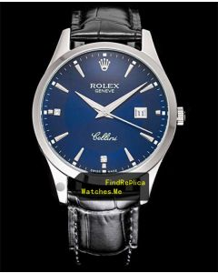 Rolex Cellini m50505 Blue Face With Steel Bezel