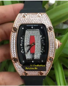 Richard Mille RM 037 Ladies Rose Gold With White Diamond