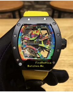 Richard Mille RM 68-01 Yellow Nylon Strap Watch