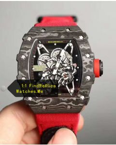 Richard Mille RM 35-01 Rafa Original Carbon Fiber Red Nylon Strap