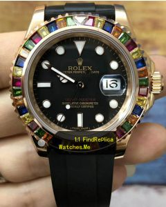Rolex Yachtmaster 116695SATS Colored Diamond