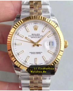 Rolex Datejust 116333-72213 41mm Ivory White Face Watch