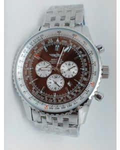 Brown Breitling Navitimer 46mm Steel
