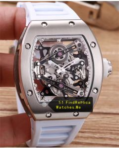 Richard Mille RM 038 Steel Case With White Rubber Strap JJ-Factory