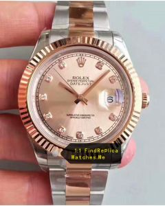 Rolex Datejust 126331 41mm Light Pink Face Watch