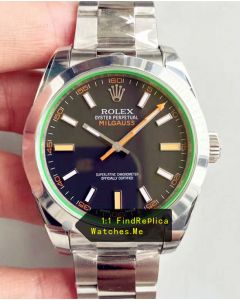 Rolex Milgauss 116400 Green Glass Watch From N Factory