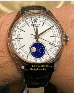 Rolex Cellini m50535-0002 Blue Moon Phase Watch