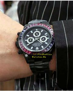 Rolex 24 Daytona 1992 Black Steel With Purple Diamond Bezel