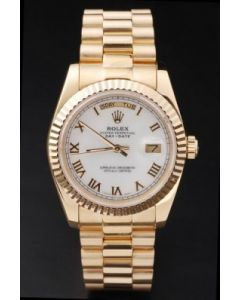 Rolex Day Date White Face Gold 40mm