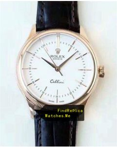 Rolex Cellini 50505 39mm Diameter 18k-Gold Double Ring