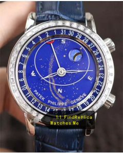 Patek Philippe Super Complex Timer 6104G-001 Blue Face Watch