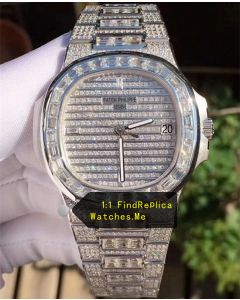 Patek Philippe Nautilus 5719 Square Large DiamondS Bezel Watch