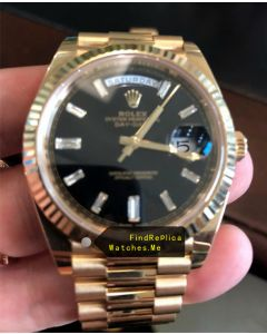 Rolex Daydate 228238 Black Face With 18K-Gold