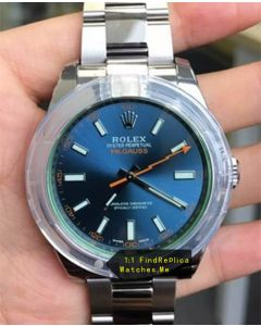 Rolex Milgauss 116400-GV-72400 Blue 40MM Face