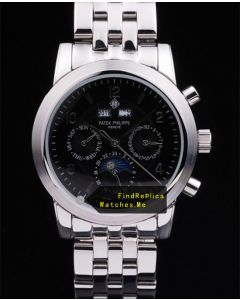 Patek Philippe 38MM Stainless Steel Case Black Face bf1243