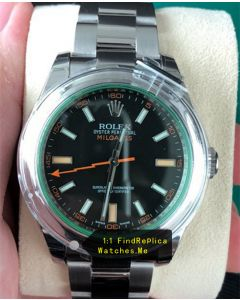 Rolex Milgauss 116400-GV-72400 Green Glass Watch