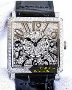 Franck Muller Master Square All Diamonds Face