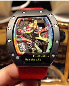 Richard Mille RM 68-01 Red Nylon Strap Watch