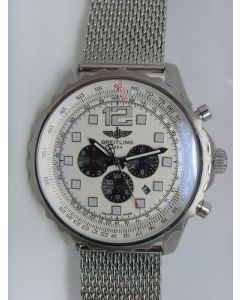 White Breitling Chronospace 46mm Steel