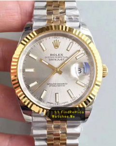 Rolex Datejust 126333 41mm Silver Face Watch