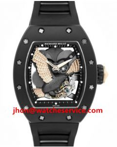 Gold Eagle Richard Mille RM 59-02 Black Ceramic Watch