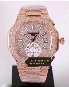 Patek Philippe Nautilus 5980 Rose Gold Inlaid Diamond