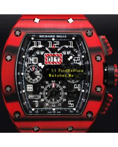 Richard Mille RM 11-03 Black Strips Red Carbon Fiber Watch