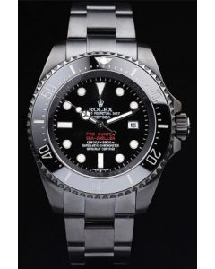Rolex Sea Dweller Black Steel Red Logo