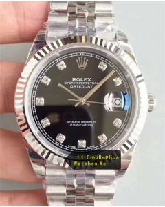 Rolex Datejust m126334 41mm Black Face Steel Watch