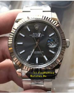 Rolex Datejust m126334-0017 41MM Three-row Chain Link