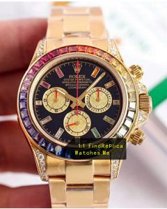 Rolex Daytona 116598 RBOW 18K-Gold Diamond Bezel Watch