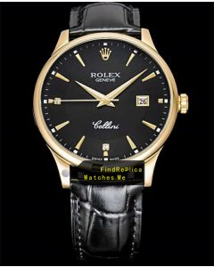 Rolex Cellini m50505 Black Face Date Watch