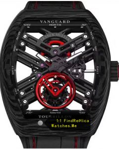 Franck Muller Mens Collection V45 Red Gear Tourbillon