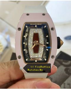 Richard Mille RM 07-01 Ladies Pink Bezel With White Strap