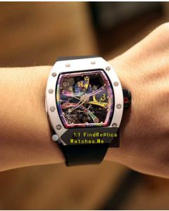 Richard Mille RM 68-01 KONGO Purple Graffiti Skeleton Watch